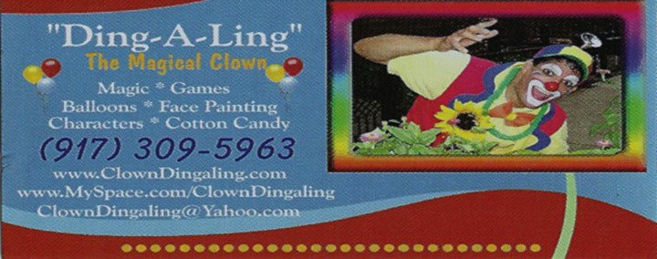 Ding-a-Ling The Magical Clown | NYC Night Life - Club Adverts